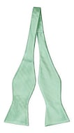 JAGGED Seafoam turquoise self-tie bow tie