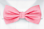 JAGGED Warm pink pre-tied bow tie