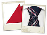 Lusekofte navy blue tie and Andy pocket square gift combo