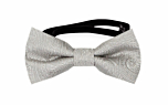 ORNATE Silver baby bow tie