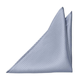 PRICKLEKISS Dusty blue pocket square