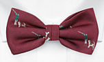 RATTLING Red pre-tied bow tie
