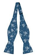 ROCKART Blue self-tie bow tie