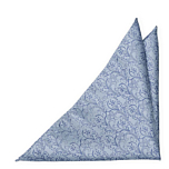SCROLLER Light blue pocket square