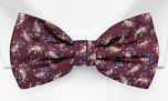 SEEDSWIMMER Burgundy pre-tied bow tie