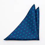 SHAMROCKER Blue pocket square