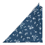 SHUTTLEBLOOM Blue pocket square