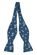 SHUTTLEBLOOM Blue self-tie bow tie