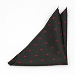 SMOOCHIE Black pocket square