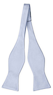 SOLID Ice blue self-tie bow tie