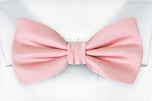 SOLID Pale pink boy's bow tie