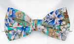 SPIFFYTOP Turquoise pre-tied bow tie