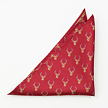 STAGGERING Red pocket square