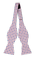 TRIFOGLEZZA Pink self-tie bow tie