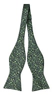 TUSSIEMUSSIE Green self-tie bow tie