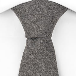 Notch Burton necktie - wool in solid grey
